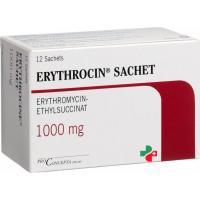 Эритроцин1000 мг 12пакетиков гранул