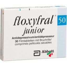 Флоксифрал Джуниор 50 мг 30 таблеток покрытых оболочкой