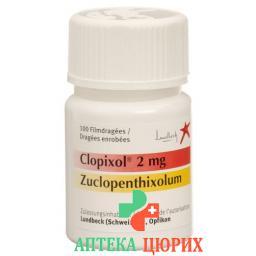 Клопиксол 2 мг 100 драже в оболочке
