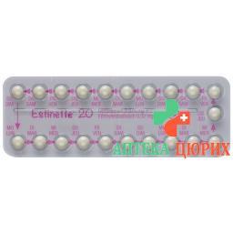 Эстинет-20 21 таблетка