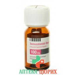 Темозоломид Тева 100 мг 5 капсул