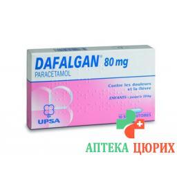 Дафалган 80 мг 10 суппозиториев