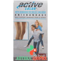 Bort Aktive Color Kniebandage размер M -37см Hautfarbe