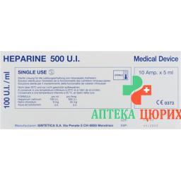 Heparin Sintetica 100 E/ml 10 Ampullen 5 ml
