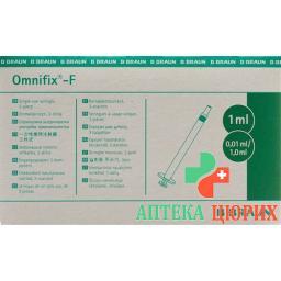 Omnifix-F тюбикrkulin Spritze 1мл 100 штук