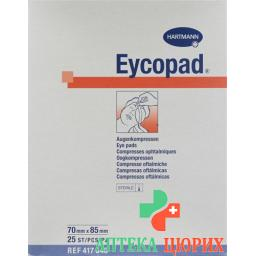 Eycopad Augenkompressen 70x85мм стерильный 25 штук