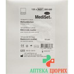 IVF Wattestaeb Holz 15см Gross стерильный 125x 3 штуки