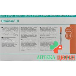 Omnican Insulin 50 0.5мл 0.3x12мм G30 Einzel 100 X