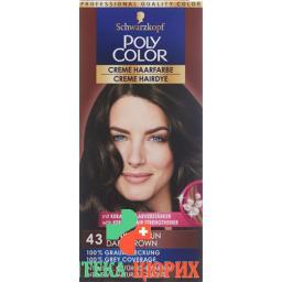 Polycolor крем цвет волос 43 Dunkelbraun 90мл