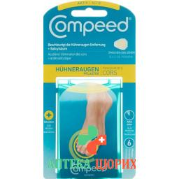 Compeed Huhneraugenpflaster mit Salicylsaure Small 6 штук