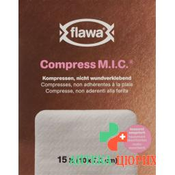Flawa Compress M.I.C Kompresse 7.5x10см 15 штук