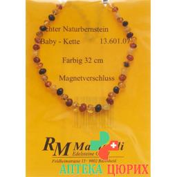 Mainardi янтарь Babykette Farbig 32см Magnetverschluss