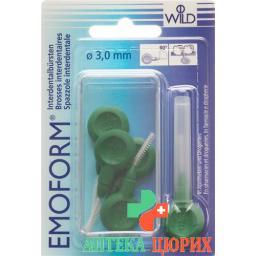 Emoform Interdentalbursten 3.0мм Dunkelgrun 5 штук