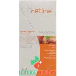 Netline Hypoallerg Kaltwachsstreifen Gesicht 20 штук