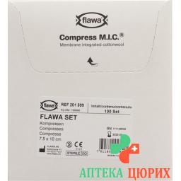 Flawa Mic Kompressen 7.5x10см стерильный 100 пакетиков