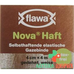 Flawa Nova Haft самоклеющиеся марлевый бинт 4смx4м