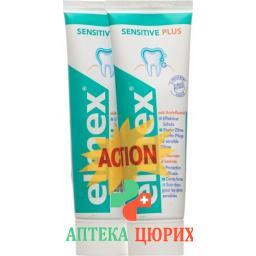 Elmex Sensitive Plus Zahnpasta 2x 75мл