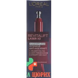 L'Oreal Revitalift Laser x3 Tiefenwirksame Augenpflege 15мл