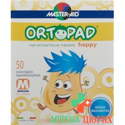 Ortopad Happy Occlusionspflaster Medium 50 штук