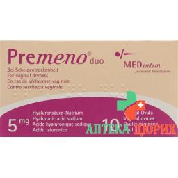 Премено Дуо вагинальные суппозитории 5 мг 10 шт.