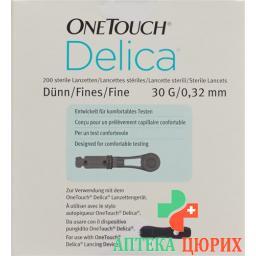 One Touch Delica ланцеты стерильный 200 штук
