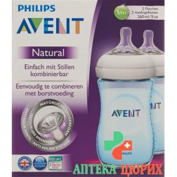 Avent Philips Naturnah-Flasche 2x 260мл Duo Blau
