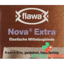 Flawa Nova Extra эластичный Mittelzugbinde 4смx5m Hautfarben