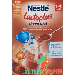 Лактоплюс коровье молоко с шоколадным вкусом идополнительными витаминами и железом от 1 года 400 грамм