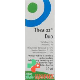 Теалоз Дуо 10 мл глазные капли
