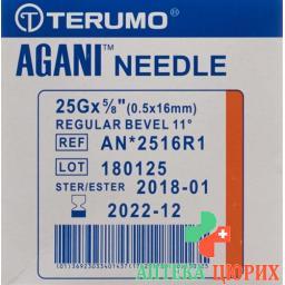 Terumo Agani Einmalkanulen 25г 0.5x16мм Orange 100 штук