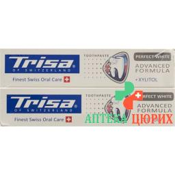 Trisa зубная паста Perfect White Duo 2x 75мл
