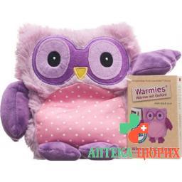Warmies Pop Warme-Stofftier Eule Lila