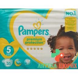 Pampers Prem Prot размер 5 11-23кг Jun Sparp 35 штук
