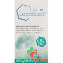 Lactobact Omni Fos в капсулах доза 60 штук