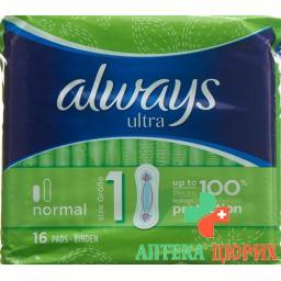 Always Ultra бинт Normal 16 штук