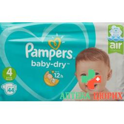 Pampers Baby Dry размер 4 7-18кг Maxi Sparpack 44 штуки