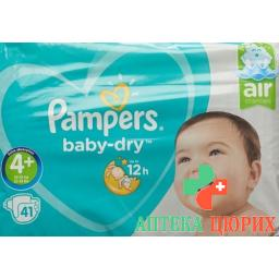 Pampers Baby Dry размер 4+ 9-20кг Maxi Pl Sparpa 41 штука