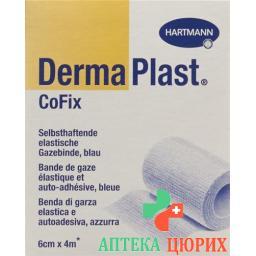 Dermaplast Cofix марлевый бинт 6смx4m Blau