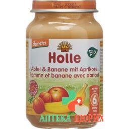 Holle Apfel Banane Aprikose nach dem 4. Monat Bio Glas 190г