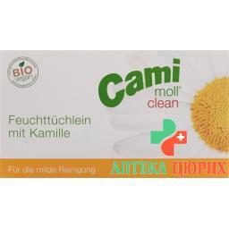 Cami Moll Clean влажные салфеткив пакетиках 36 штук