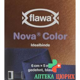 Flawa Nova Color Idealbinde 6смx5m Blau