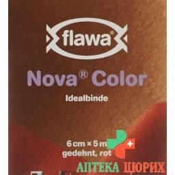 Flawa Nova Color Idealbinde 6смx5m Rot
