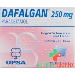 Дафалган порошок 250 мг 12 пакетиков