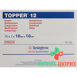 Topper 12 Einmal-Kompressen 10x10см стерильный 70 пакетиков a 2 штуки