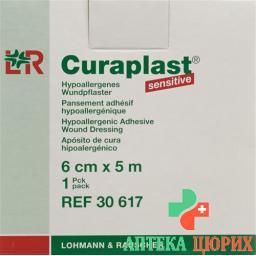 Curaplast Sensitiv повязка для ран 6смx5m телесный цвет рулон
