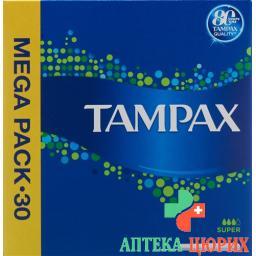 Tampax Super Tampons 30 штук