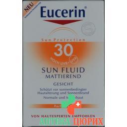 Eucerin Sun Fluid Mattierend Gesicht LSF 30 50мл