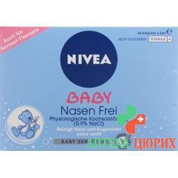Nivea Baby Nasen Frei раствор 0.9% 24x 5мл