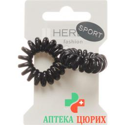 Herba Haarbinder 3.8см Schwarz 2 штуки