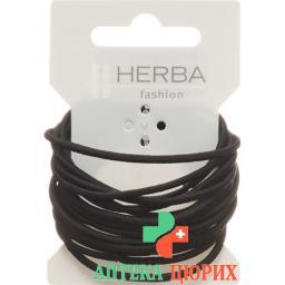 Herba Haarbinder 4.2см Schwarz 16 штук